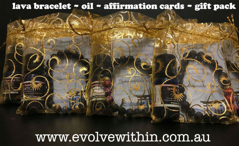 Affirmation Cards with Lava Bracelet & Oil