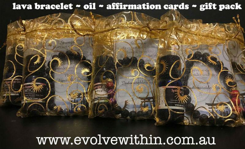 Affirmation Cards with Lava Bracelet & Oil